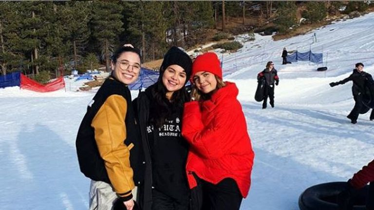 Selena Gomez (c) was pictured with actress Bailee Madison (r) and another friend. Pic: Instagram/Bailee Madison
