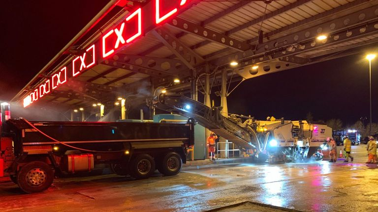 Work is underway to remove the tolls well in time for Christmas. Pic: Highways England