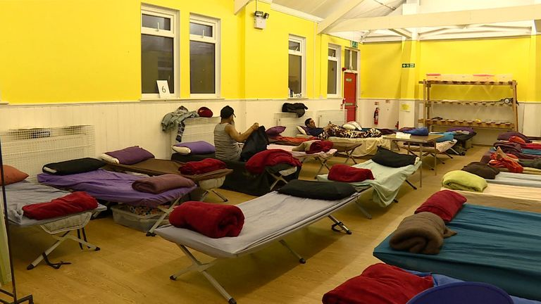Shelters like this one in Ilford are in high demand