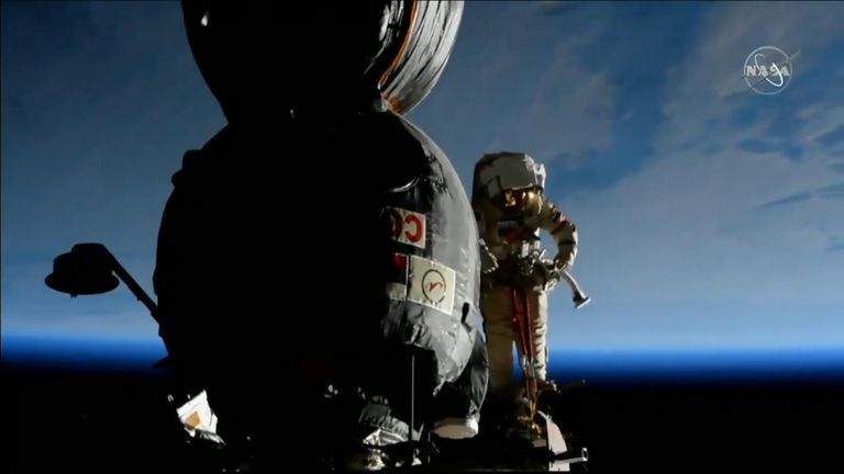 "Two Russian cosmonauts carried out ""space surgery"" on the exterior of the Soyuz spaceship docked to the ISS."