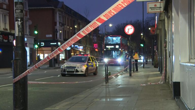 The stabbing happened on Fulham Palace Road in Hammersmith. Pic: Google