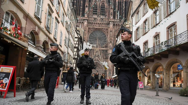 The Strasbourg Christmas market reopened under heavy security  after the terror attack