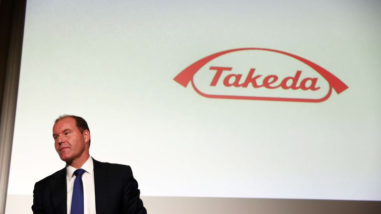 Takeda chief executive Christophe Weber says the deal will diversify its portfolio and bolster profitability