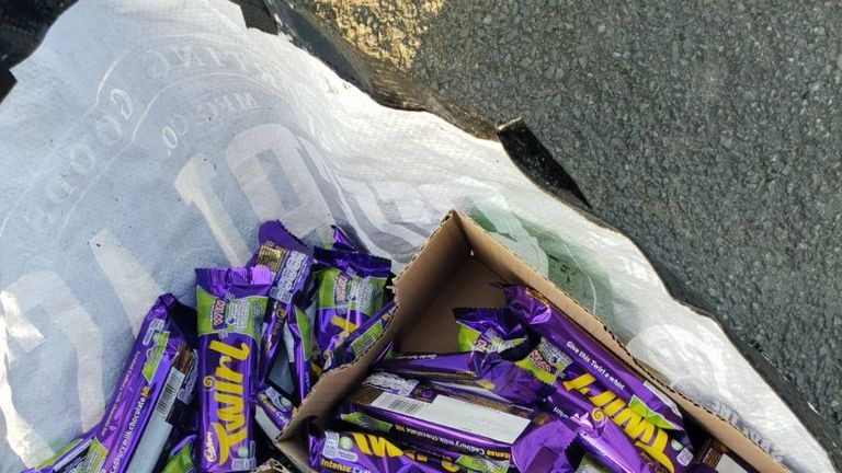 A man was caught allegedly stealing £200 of Twirls. Pic: GMP Tameside North