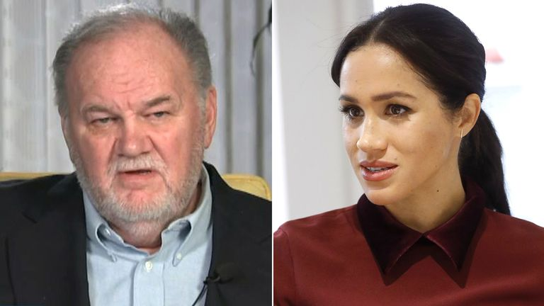 Thomas Markle says he is being 'ghosted' by Meghan. Pic: GMB