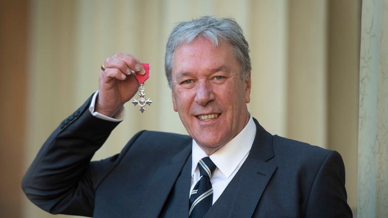 Timothy Bentinck with his MBE (Member of the Order of the British Empire) presented to him by the Prince of Wales for services to drama during an investiture ceremony at Buckingham Palace, London.