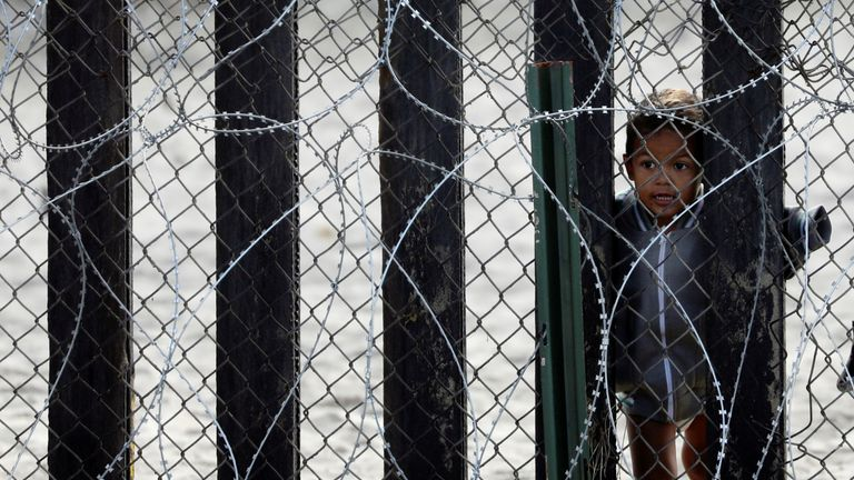 More than 14,000 unaccompanied children have been held near the US border in recent months. File pic