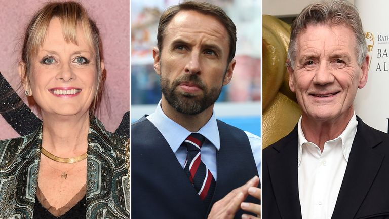 Twiggy, Gareth Southgate and Michael Palin