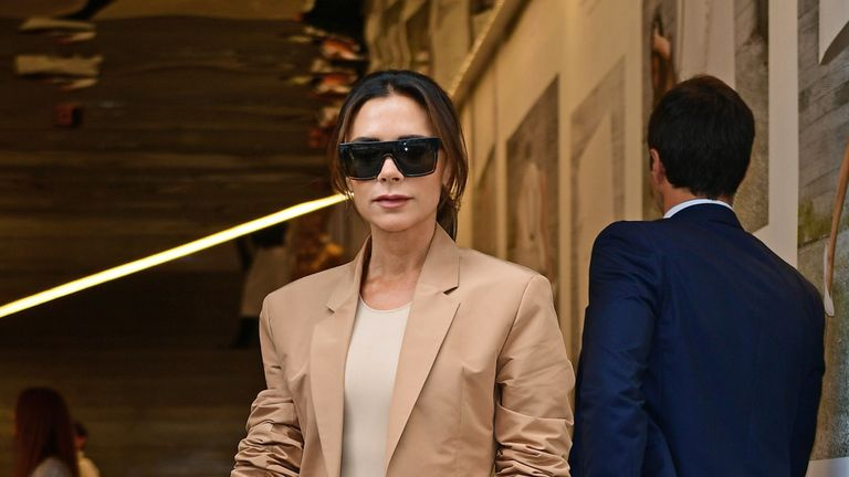 File photo dated 16/09/18 of Victoria Beckham after her London Fashion Week SS19 show.