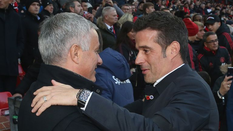 Marco Silva dismisses Jose Mourinho's claim Man Utd will finish above Everton | Football News |