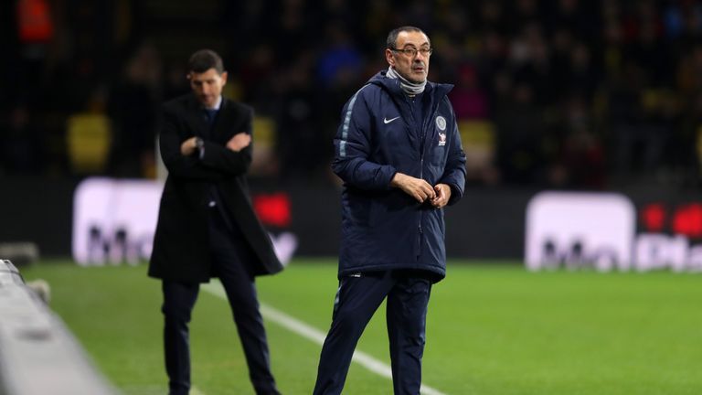 Chelsea manager Maurizio Sarri says his side 'reacted well' after weekend defeat