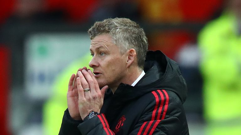 Solskjaer says no talks yet on long-term Man Utd future