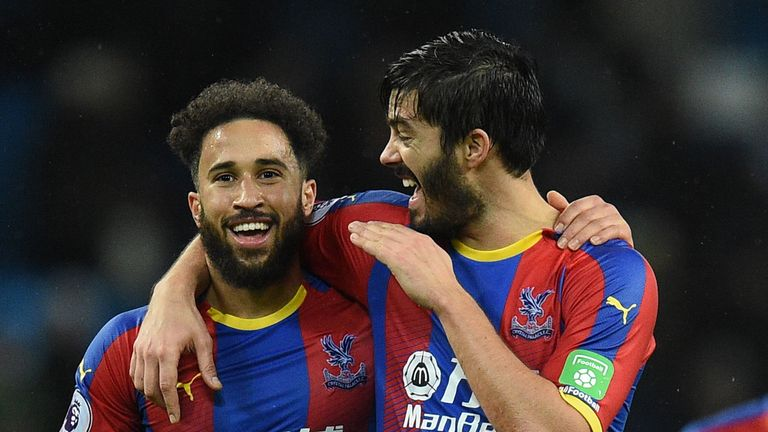 Andros Townsend scored an outrageous volley during Man City v Crystal Palace