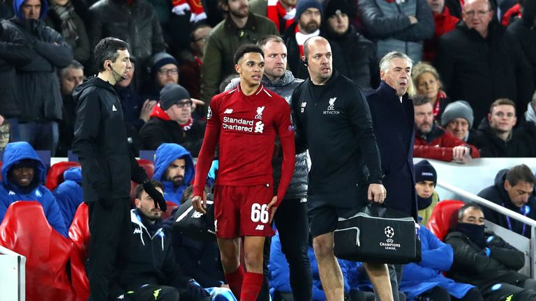 8d1d8db76 Liverpool boss Jurgen Klopp says Trent Alexander-Arnold could face ...