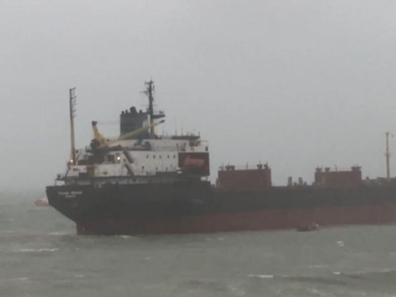 Russian cargo ship aground in Falmouth
