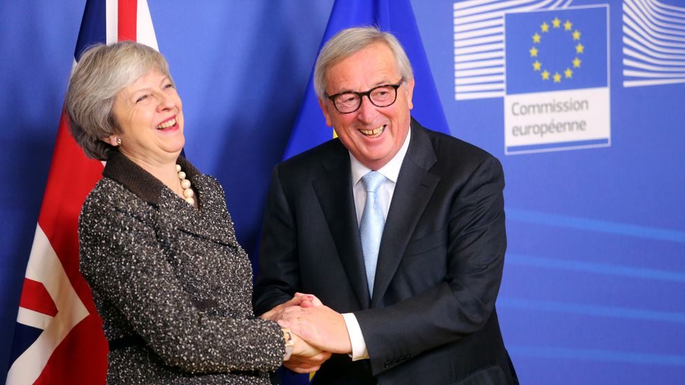 British Prime Minister Theresa May meets with European Commission President Jean-Claude Juncker to discuss Brexit, at the EU headquarters in Brussels, Belgium December 11, 2018. REUTERS/Yves Herman