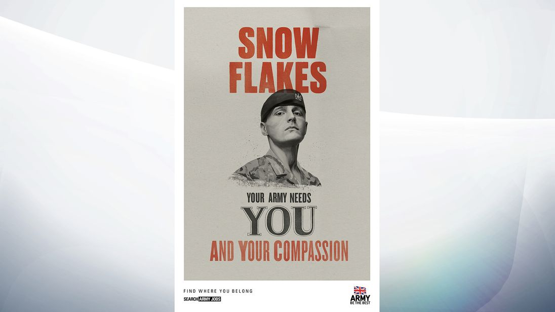 Army launch 'Snowflake' recruitment posters targeted at millennials