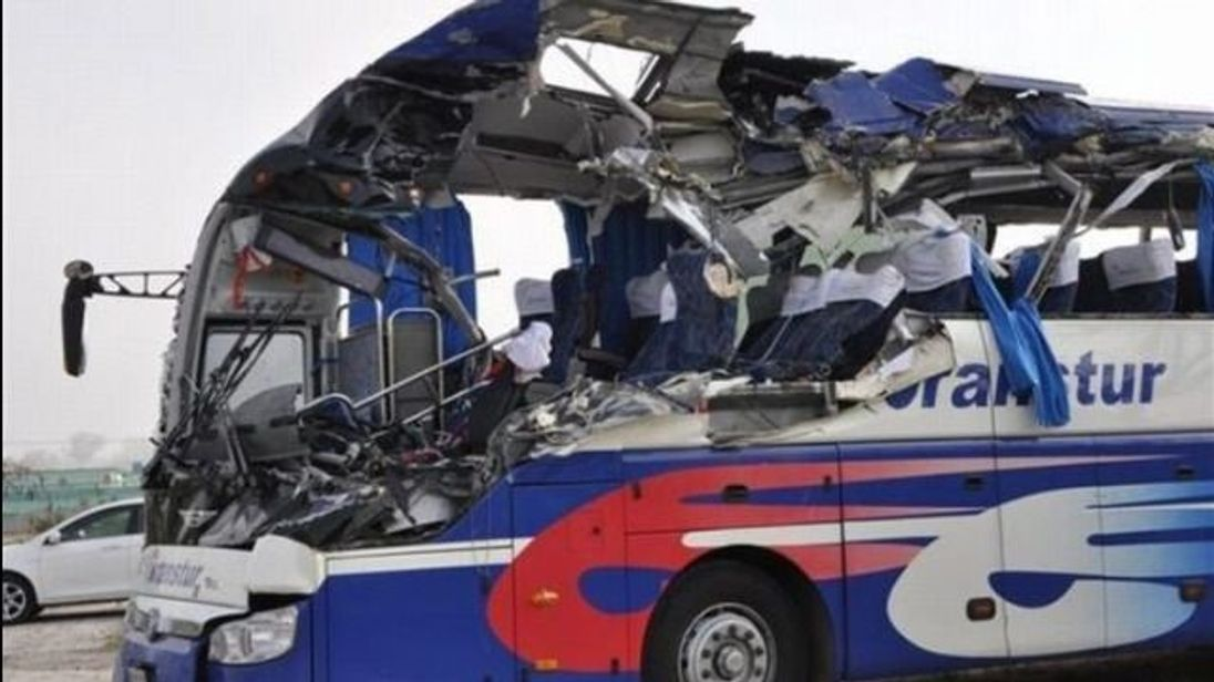 Bus crash in Cuba. Pic: Solvision