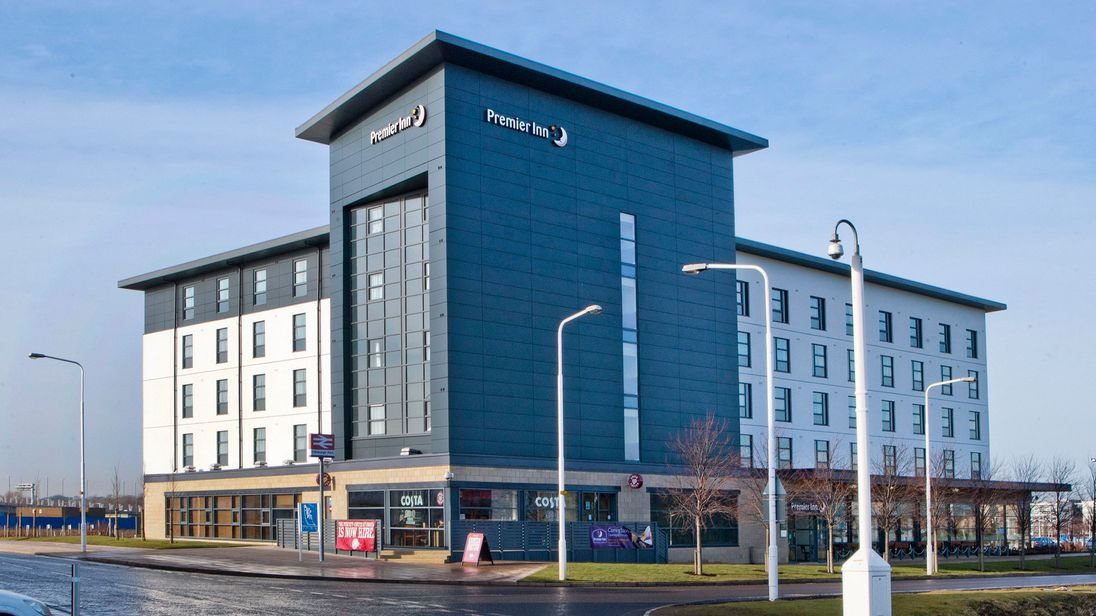 The Gyle Premier Inn at Edinburgh Park which has become the first in the UK to be battery-powered