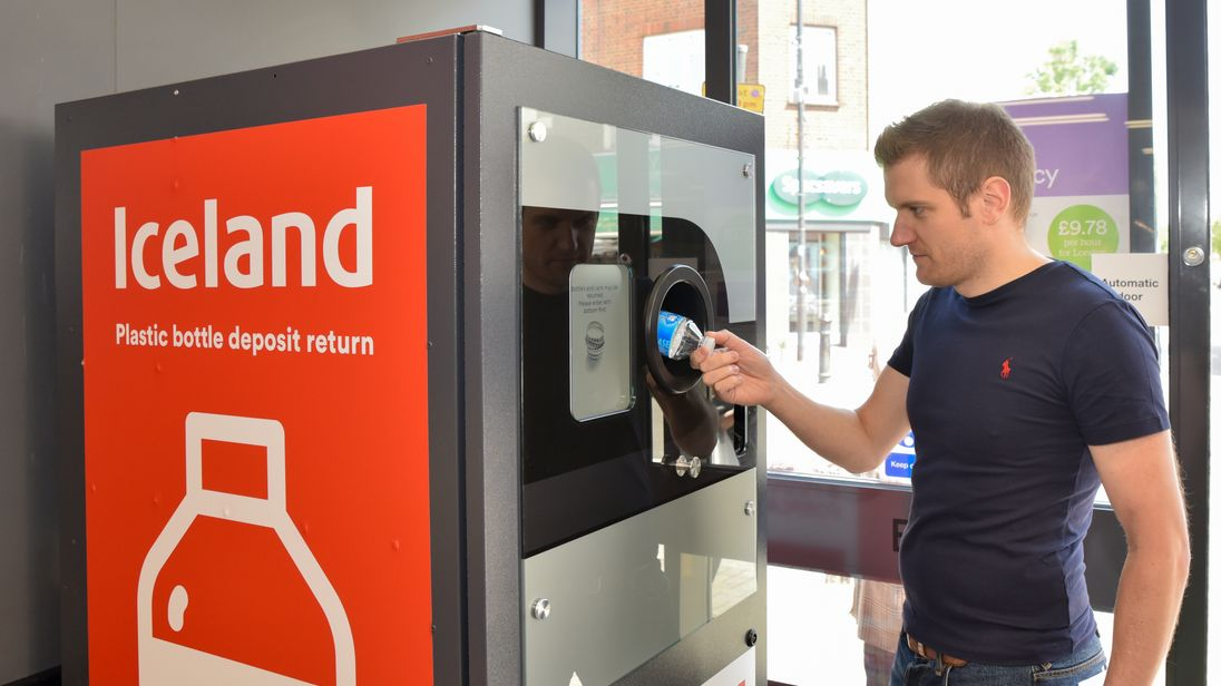 Deposit return scheme for plastic bottles run by Iceland supermarket
