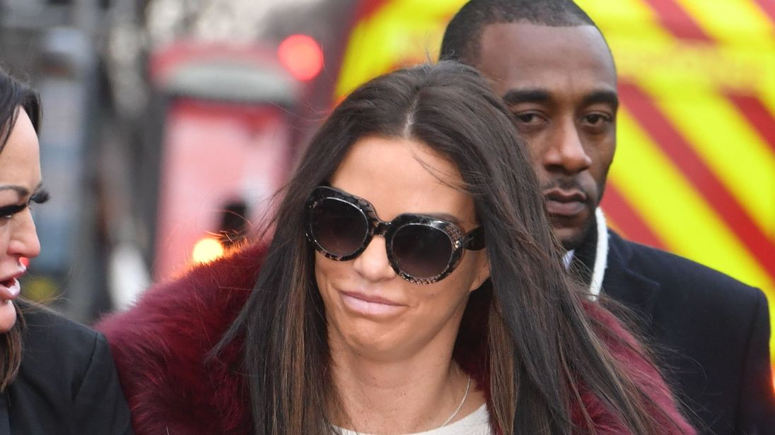 Katie Price denies being drunk in charge of motor vehicle