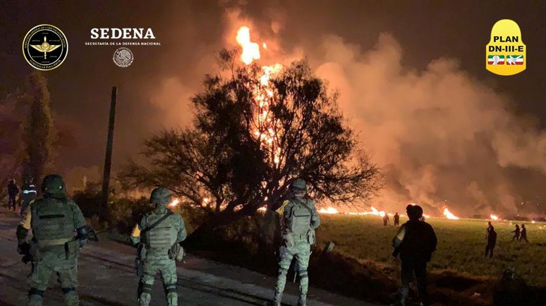 At least 20 charred to death as fuel pipeline explodes in Mexico