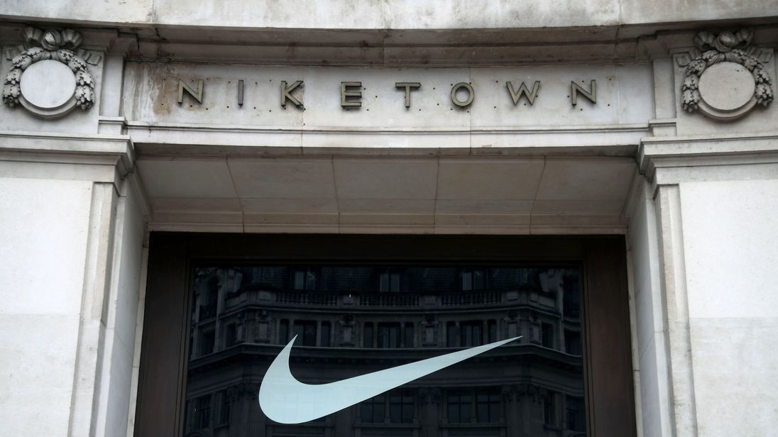 The Niketown store on Oxford Street, central London., May 29th 2018