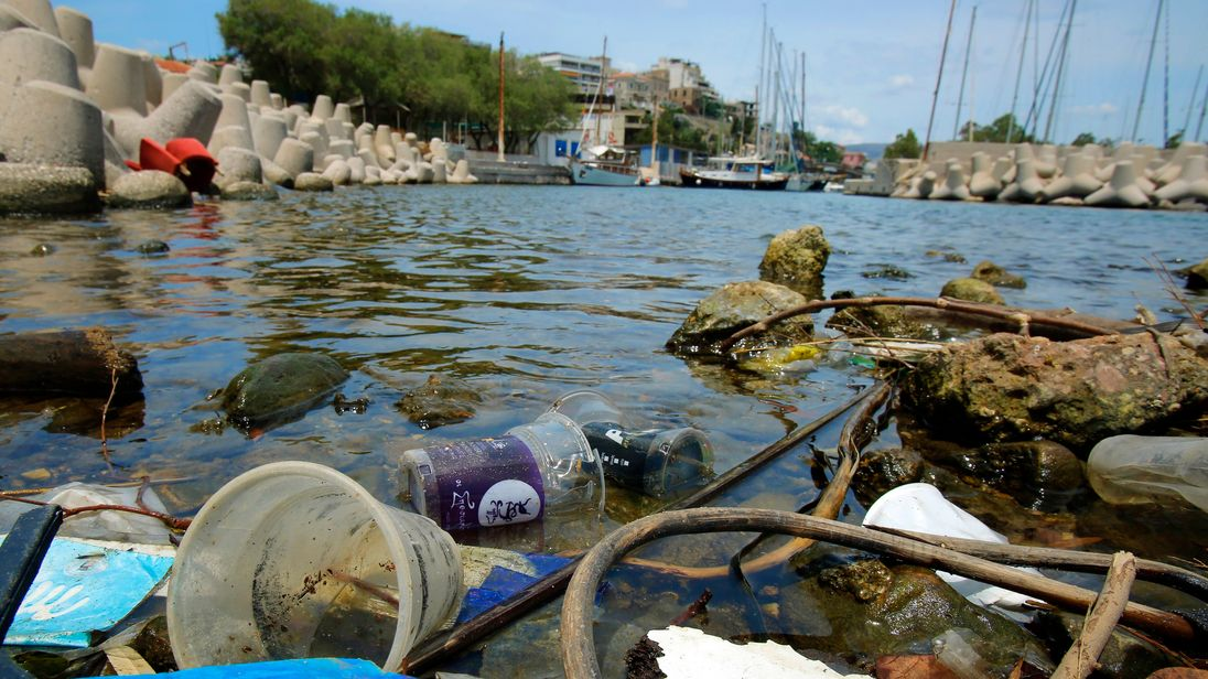 Millions of tonnes of plastic waste end up in the oceans each year
