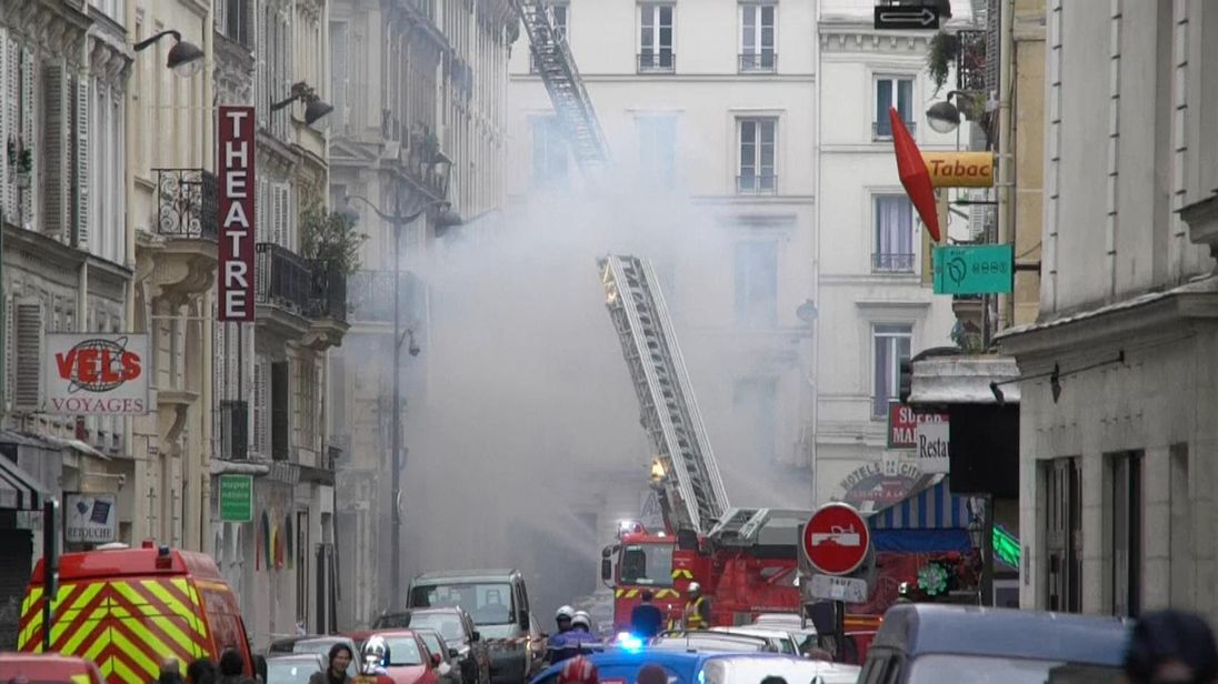 Powerful blast shakes street in centre of Paris