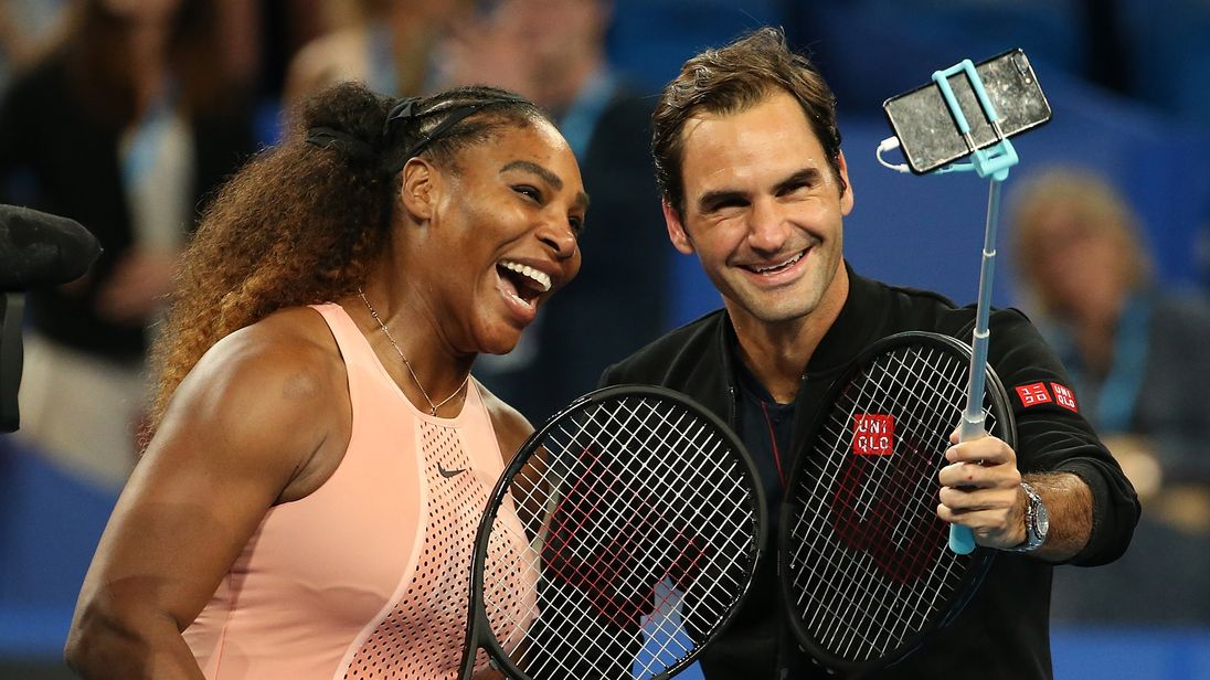 Serena Williams takes on Roger Federer in legendary mixed doubles clash