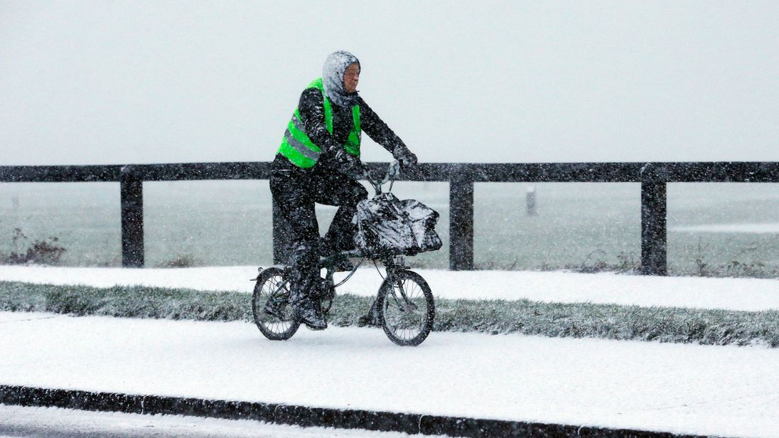 Winter-low -11C recorded as snow warnings issued across Britain
