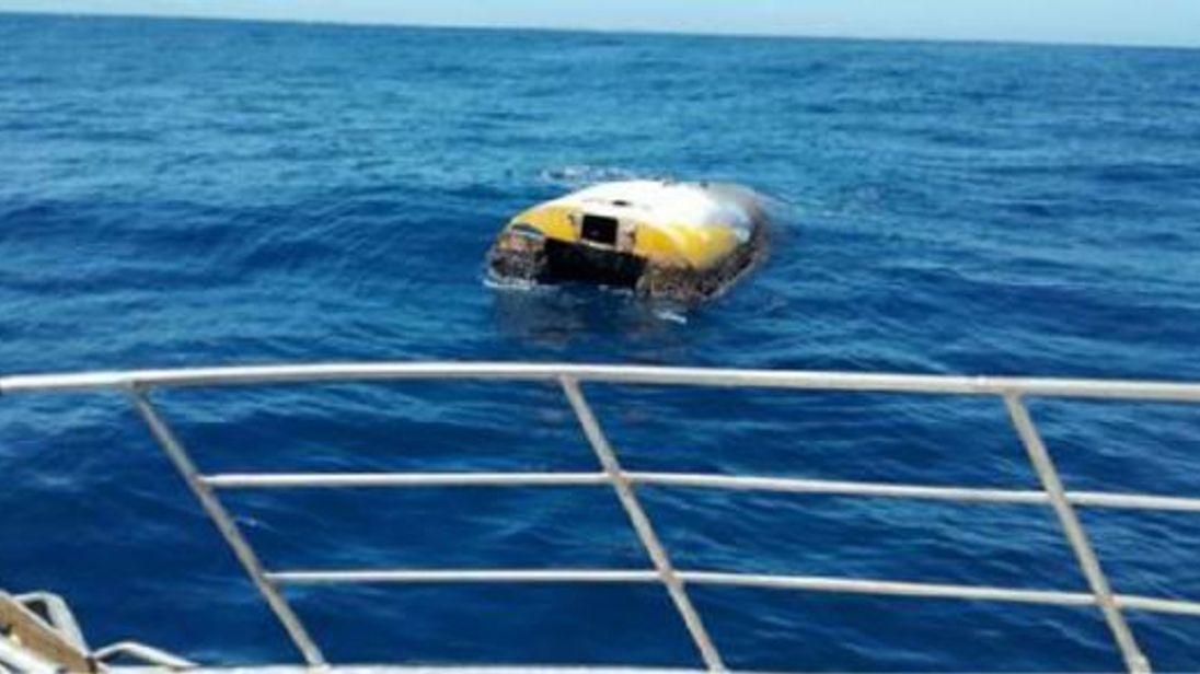 Wild Eyes was found overturned off the coast of Kangaroo Island. Pic: South Australia Police