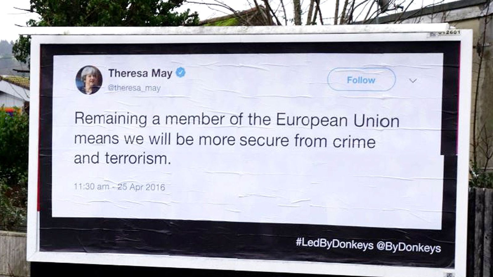 Brexit tweets MPs 'can't delete' shown on billboards