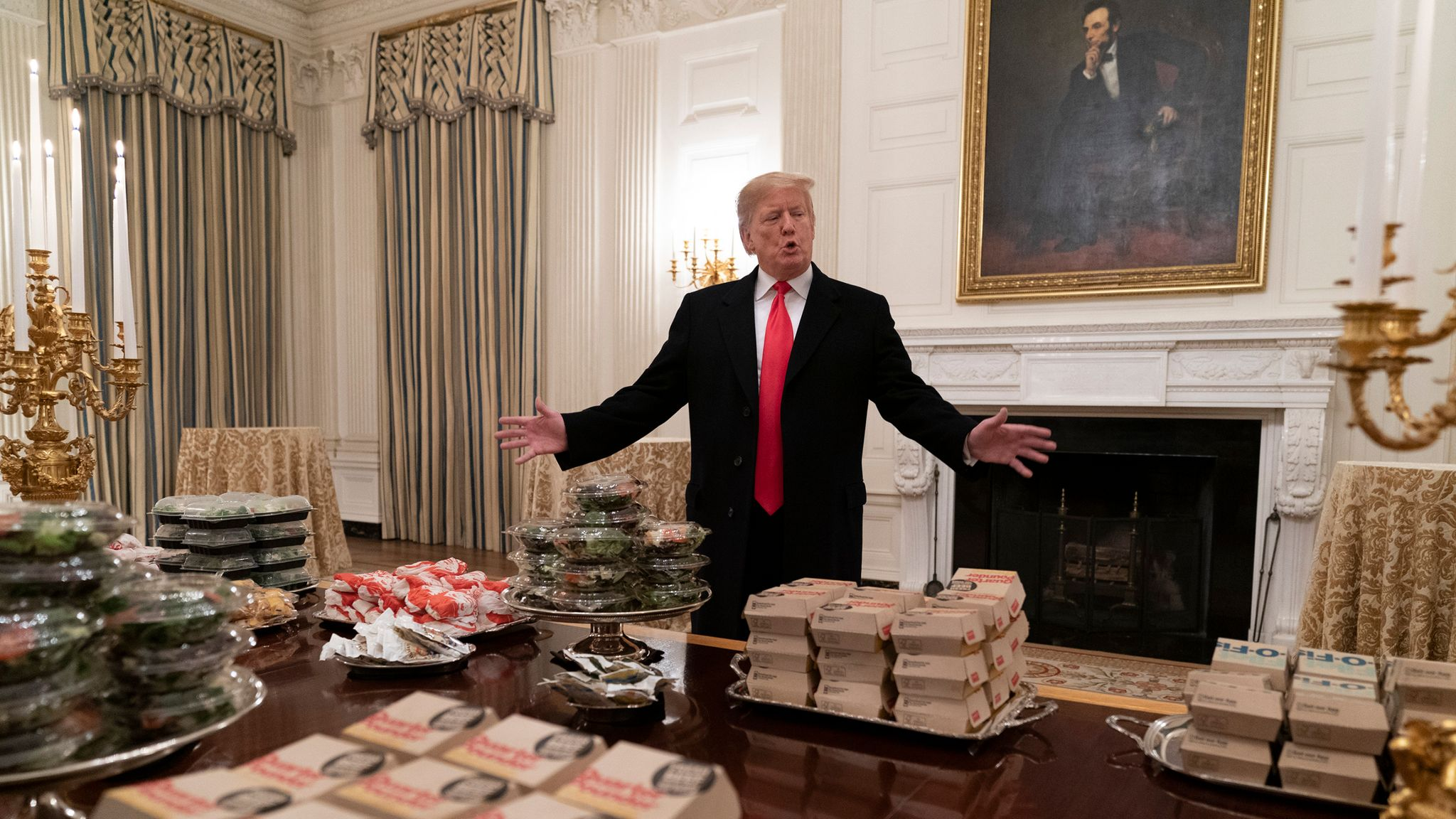 Government Shutdown Leaves White House Guests Dining On Take