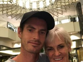 Andy Murray shared a snap with his mum, Judy. Pic: Andy Murray
