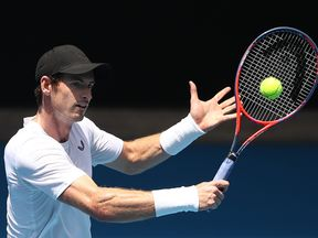 Andy Murray was back on the courts after the announcement