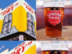 Asahi and London Pride