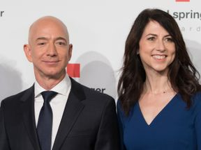 Mr Bezos is said to have a $160bn fortune and has been with his wife for 25 years