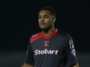 Courtney Meppen-Walter playing for Carlisle United in 2014