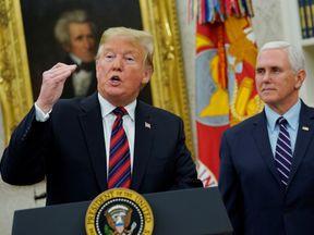 Donald Trump addressed the government shutdown on Saturday