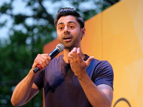Hasan Minhaj performs onstage during OZY FEST 2018 at Rumsey Playfield, Central Park on July 21, 2018 in New York City