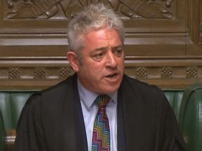 Speaker John Bercow speaks at the end of the debate ahead of a vote on the PM's Brexit deal in the Commons