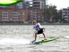 Olly Bridge is a professional kite surfer and three-time European champion. Pic: Olly Bridge/Facebook