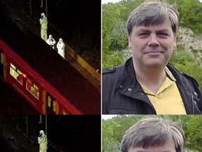 The victim was involved in a discussion with a man on the train before the attack, say police