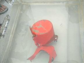 The so-called black box was found broken into two parts
