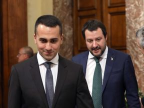 Italy's deputy PM's Luigi Di Maio and Matteo Salvini have repeatedly criticised Emmanuel Macron