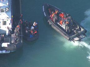 Suspected migrants seen arriving in Dover