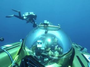 Working with scientists from the Nekton mission Sky News will use small submarines to descend past coral gardens into the dimly lit and little explored 'twilight zone' at a depth of 300 metres.