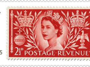 The Queen Elizabeth II Coronation stamp as part of the first set of special stamps of 2019