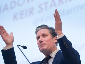 Shadow Brexit secretary Sir Keir Starmer drew cheers when he said a second vote 'must' remain an option
